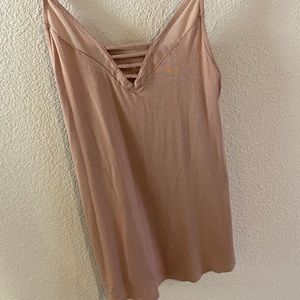 Soft pink tank from AE